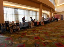 Vendors and non-profits in the lobby.