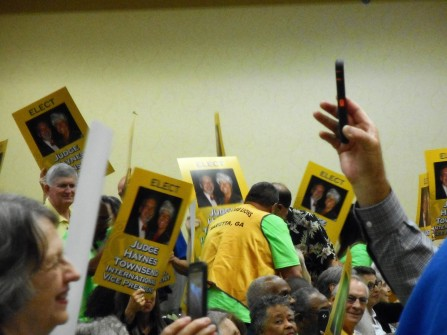 The campaign rally for Lion Haynes Townsend.