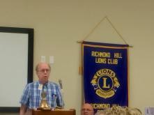 District Treasurer Rick Mizell