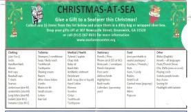 International Seafarers' Center Christmas-at-Sea donation list