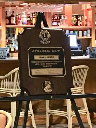 The Melvin Jones Fellow plaque