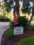 A flag in the Historic District